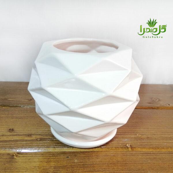 گلدان مشبک سرامیک موجود در تولیدی گل صحرا
